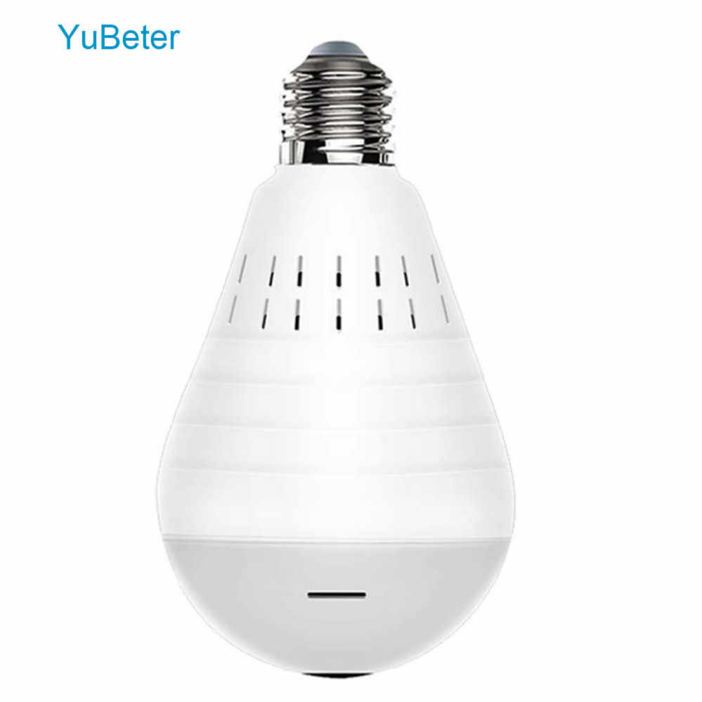 YuBeter Camera Bulb Wireless IP Wifi Fisheye Panoramic Camera CCTV Home Security Video Surveillance Night Vision Two Way Audio