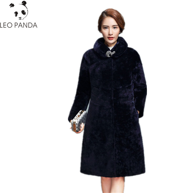 US $166 98 40% OFF|Superior quality Merino wool fur coats 2019 Winter  cashmere wool lamb slim season Mouton Coat female jacket women's wool  jacket -in