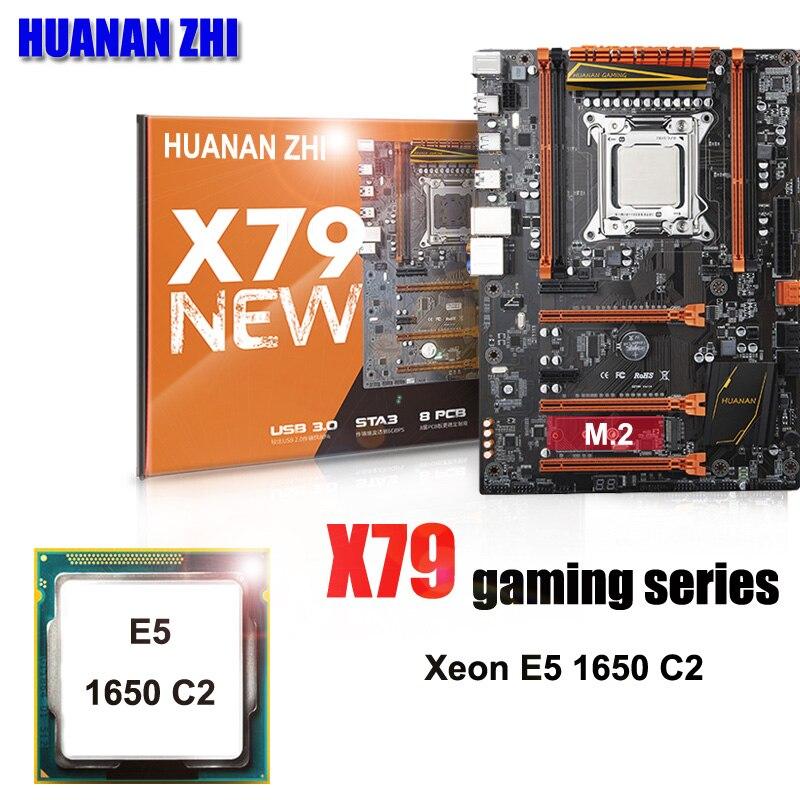 Marca HUANAN ZHI Deluxe X79 LGA2011 juegos placa CPU combos procesador Xeon E5 1650 C2 3,2 GHz todo probado y bien embalado