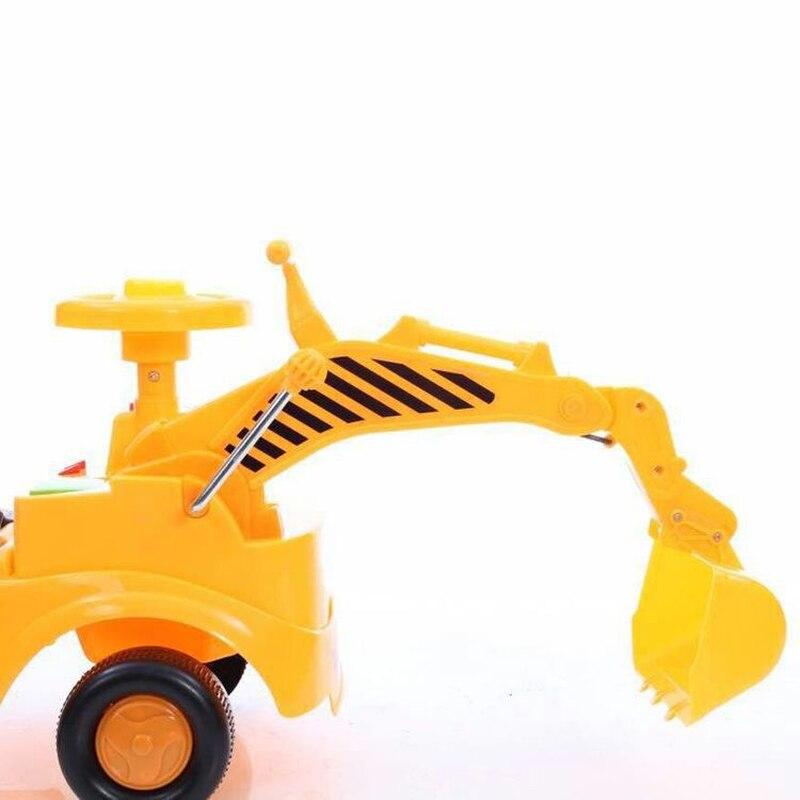 Детский экскаватор, детский экскаватор каталка, игрушки для детей, четыре колеса, пластиковые игрушки для катания на автомобиле, строительн... - 5