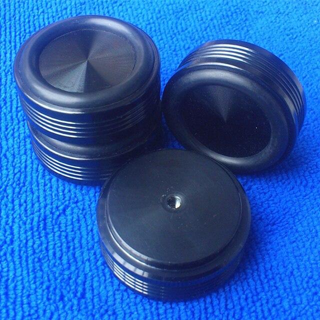 4piece 44*17MM Desktop Speaker Stands power Amplifier DAC Turntable CD DVD player  aluminum feet Rubber shock absorption screw
