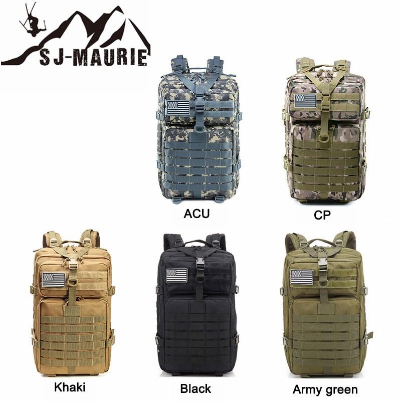 Sj-maurie tactique militaire sac à dos étanche armée Camouflage sac à dos Sports de plein air Camping randonnée chasse voyage sac