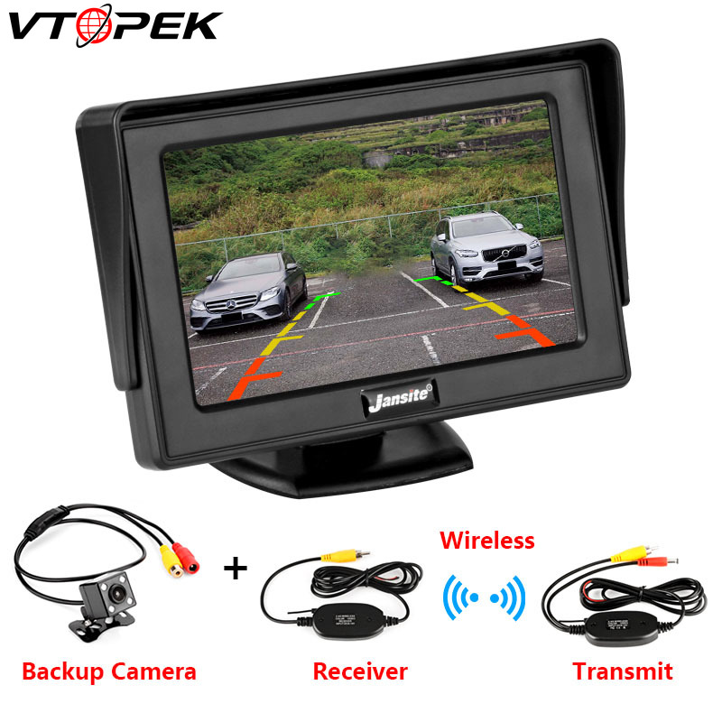 Car-Monitor Screen Lcd-Display Reverse-Camera Rear-View for TFT HD Digital-Color PAL/NTSC