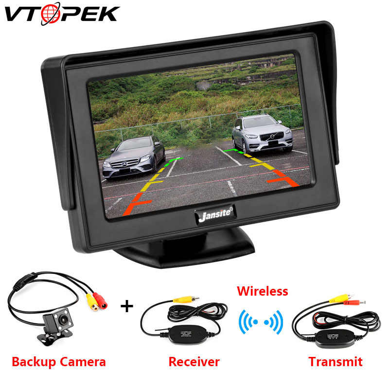"Car Monitor 4.3"" Screen For Rear View Reverse Camera TFT LCD Display HD Digital Color 4.3 Inch PAL/NTSC 480 x 272"