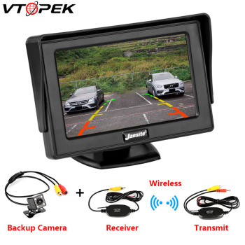 цена на Car Monitor 4.3 Screen For Rear View Reverse Camera TFT LCD Display HD Digital Color 4.3 Inch PAL/NTSC 480 x 272