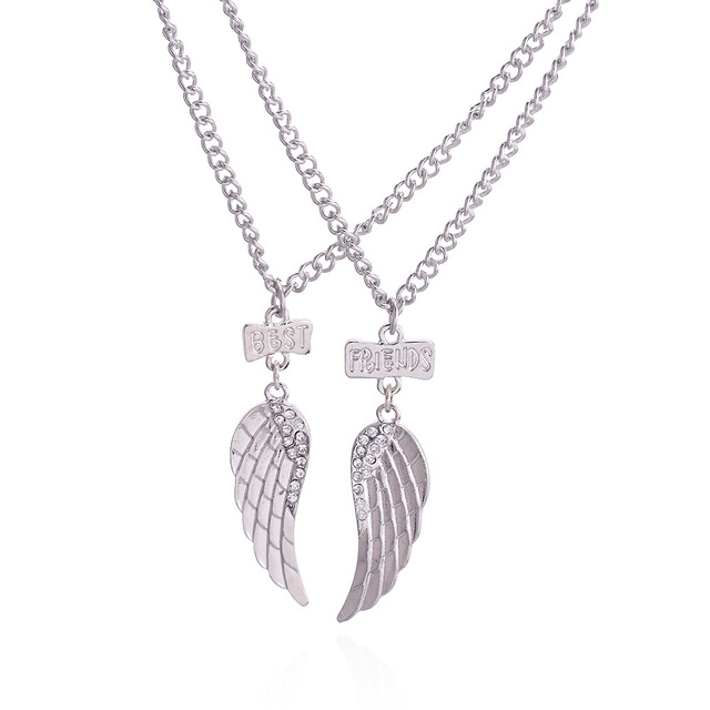 Lureme hot sale best christmas gift fashion wing best friends lureme hot sale best christmas gift fashion wing best friends pendant alloy necklace for friendship jewelry mozeypictures Choice Image