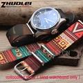New arrivals Multicoloridos Zulu nato nylon watchband straps 24mm cinta movimento eólica da China pulseira da moda À Prova D' Água