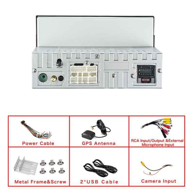 7 インチ 1DIN ためのアンドロイド 8.1 車マルチメディア MP5 プレーヤー 4 + 32 グラム GPS ナビゲーションステレオラジオ Wifi ブルー歯の USB TF FM カレマ