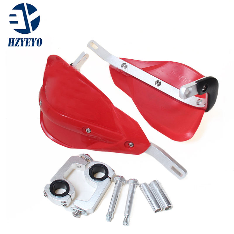 HZYEYO Universal Aluminum Motorcycle Handlebar handguards Fit 7 8 22mm Fat Bar Motorcross Dirt Bike P020