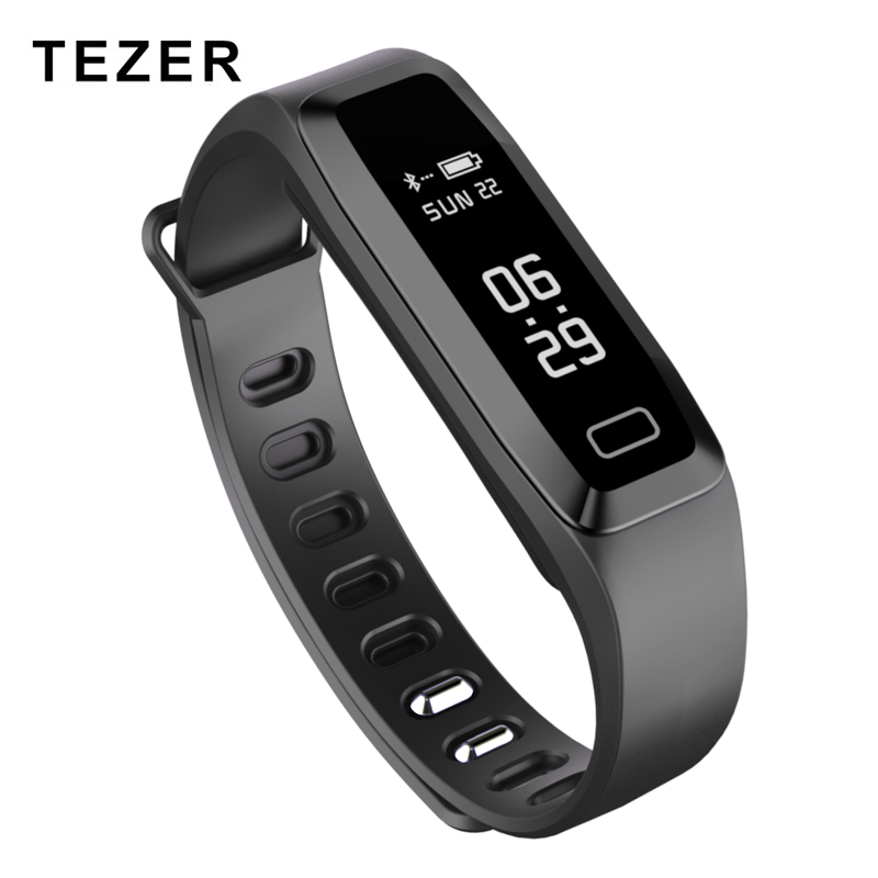 TEZER R6PRO Fitness bracelets Watch Heart rate Blood Pressure Oxygen Oximeter Sport wrist band Watch intelligent