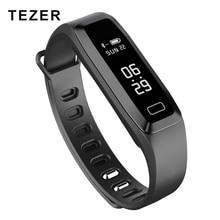 TEZER R6PRO Fitness pulseras Reloj Del ritmo Cardíaco de Presión Arterial Oxímetro De Oxígeno Sport wrist band Reloj de Alarma inteligente