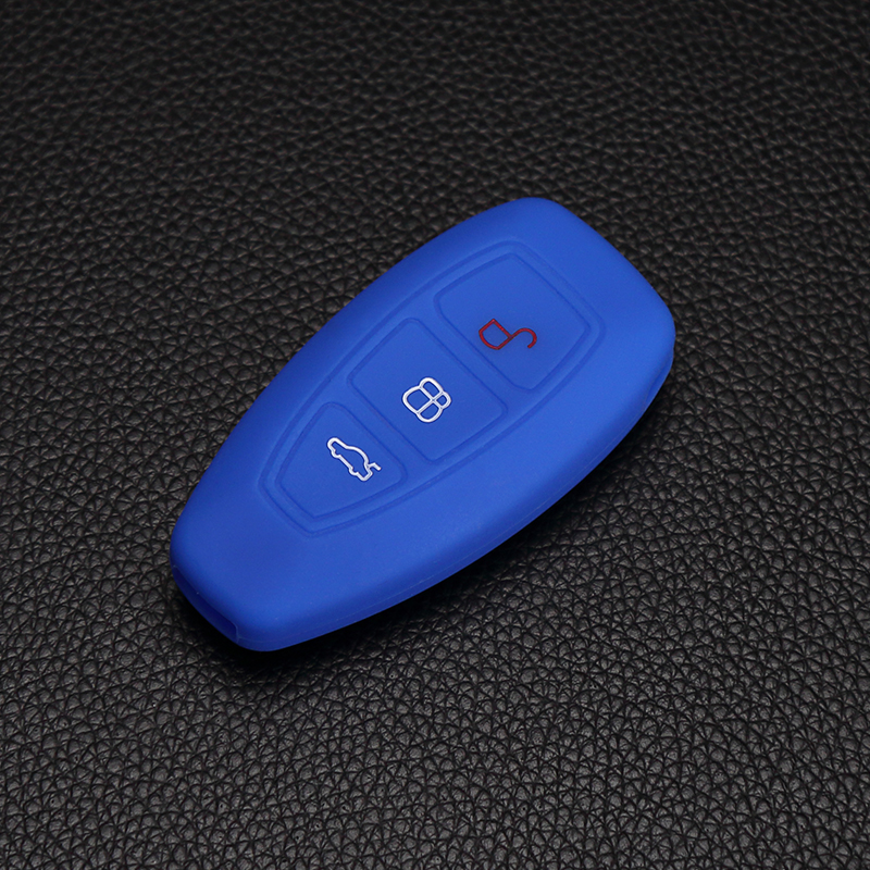 Newest Silicone Car Key Case Case Cover Car Key for 2013 2014 Ford Mondeo Silicone Key Cover Smart Auto Key dust collector gel1204 universal silicone car key cover for vw orange