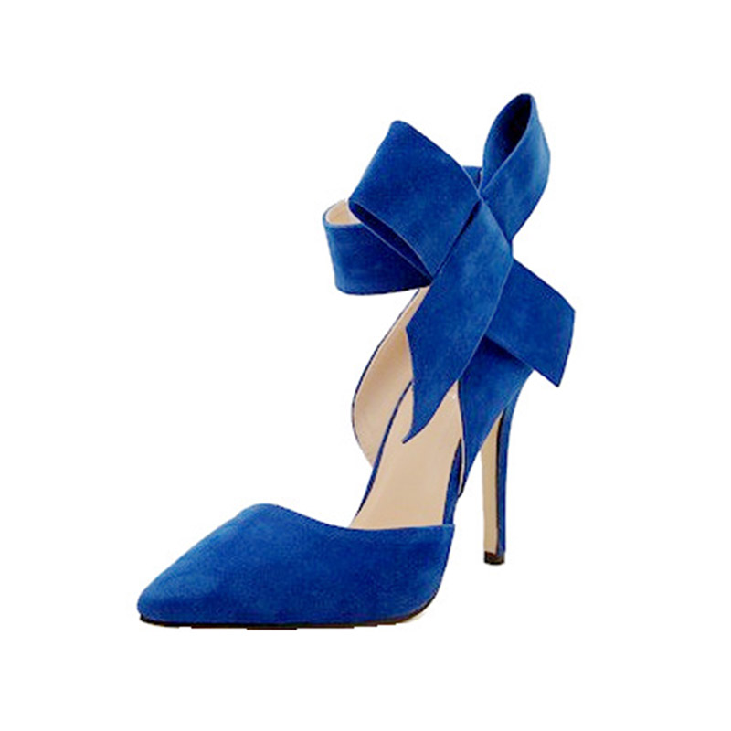 456fe6d5 Sophia Webster Lady Evening Spring Royal Blue Footwear Red Nude Big Bow Tie  Pumps Pointed Plus Size 43 Summer High Heel Shoes-in Women's Pumps from  Shoes on ...