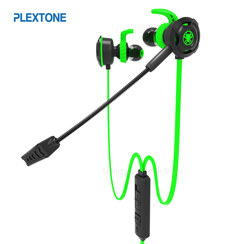 Plextone G30 PC Gaming Headset With Microphone In Ear Stereo Bass Noise Cancelling Earphone With Mic For Phone Computer Notebook plextone g20 wired magnetic gaming headset in ear game earphone with mic stereo 2m bass earbuds computer earphone for pc phone