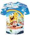 The SpongeBob Movie: Sponge Out of Water 3D Print T-shirt Cotton Rage Clothing Unisex Summer Tee Shirts Teen Loose Homme Tops