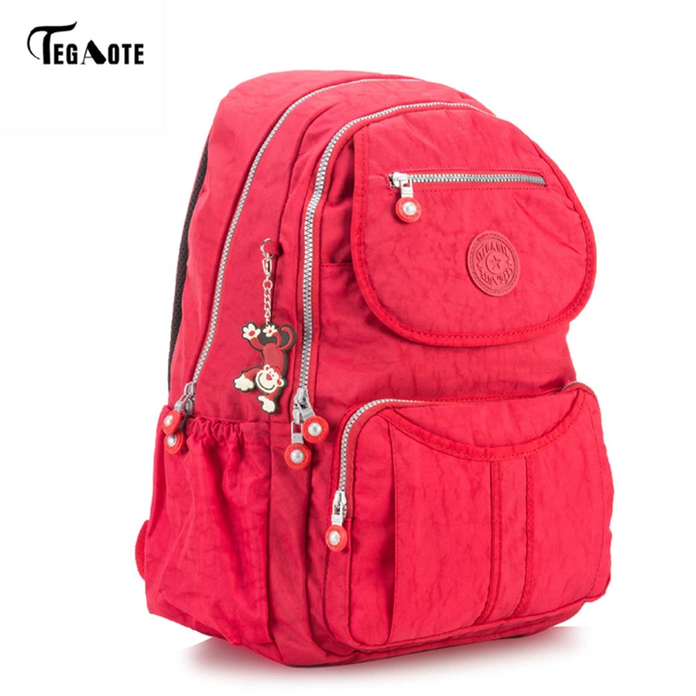 Tegaote Classic Big School Backpack For Teenage Girls Mochila Feminine Backpacks Women Solid Famous Nylon Casual Laptop Bagpack