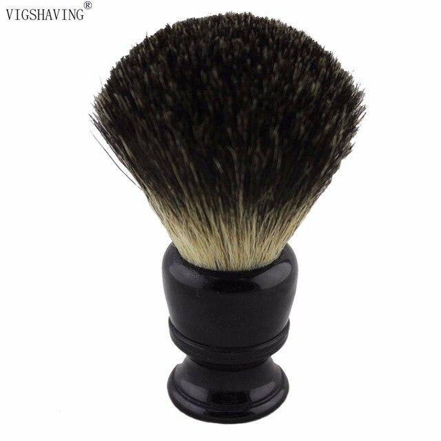 VIGSHAVING  24mm Knot Resin Handle Men Pure Badger Hair Shaving Brush