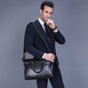 VORMOR جديد جلد الرجال حقيبة يد رجال الأعمال حقيبة حقيبة كبيرة قدرة حقيبة كتف أكياس برشام الجوف أسفل رجل حقيبة لابتوب