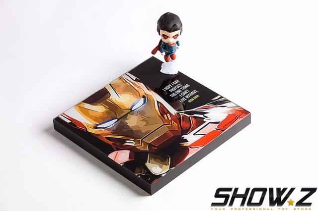 [Show.Z Store] Acrylic+Wood Frame Display Painting Super Hero Movie Charactor Iron Man/Batman/Superman