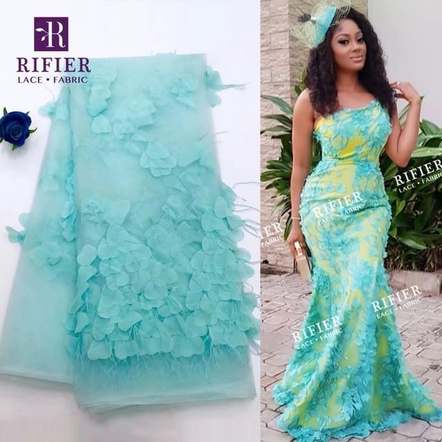 Unique Design 3D Apllique Mesh Tulle Net Lace African 2019 High Quality Noble  Lady Dresses Sewing 3D Fabrics Wedding Material 4f9dfcb63300