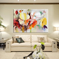 Modern Watercolor Flowers Wall Painting Hand Painted Poppy Flowers Print on Canvas Wall Picture For Living Room Home Decor Gift