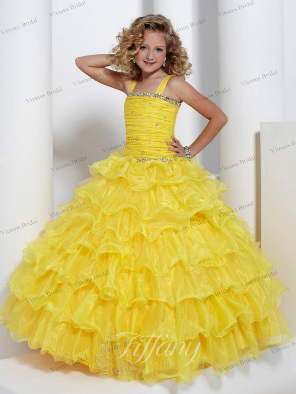 Popular Yellow Pageant Dresses for Girls-Buy Cheap Yellow Pageant ...