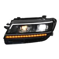 Боковые указатели поворота Drl габаритные огни люсис привело Para Авто Assessoires автомобиля освещение фары для Volkswagen Tiguan L