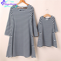 Fashion Mother Daughter Dresses Long Sleeve Striped Family Look Mother Daughter Dress Mom And Daughter Family Matching Clothing