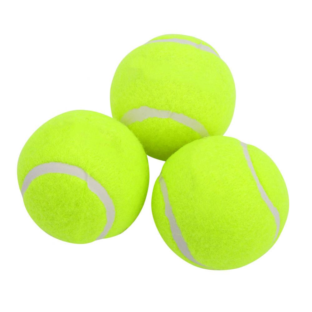 3Pcs Professional Rubber Tennis Ball High Resilience Durable Tennis Practice Ball for School Club Competition Training Exercises
