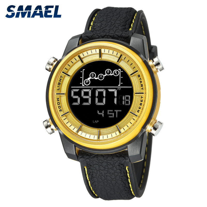 SMAEL Quartz Mens Watches lovers Oversize LED Digital Fashion watch S waterproof luxurious 1556 stainless steel for male watch SMAEL Quartz Mens Watches lovers Oversize LED Digital Fashion watch S waterproof luxurious 1556 stainless steel for male watch