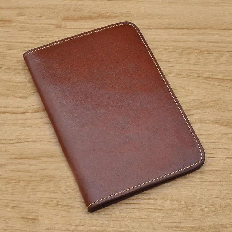 1573b49f52f7 SIKU мужская кожаная обложка для паспорта ручной работы Кошельки Держатели  известный бренд чехол для паспорта
