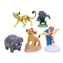 5pcs/set The Lion Guard Lion King Kion PVC Action Figures Bunga Beshte Fuli Ono Animals Action Figure Toys