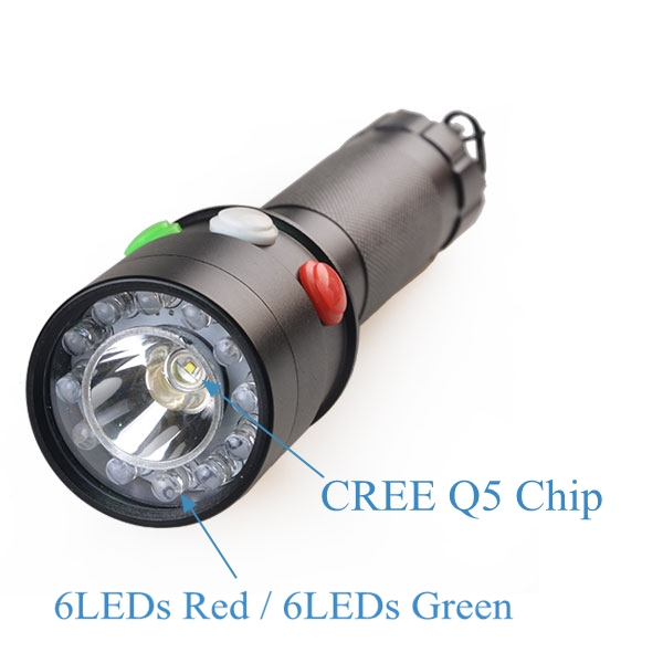 Lights & Lighting Fast Deliver Tmwt White Red Green Led Tricolor Rechargeable Railway Signal Lamp Torch Flashlight With Nylon Holster