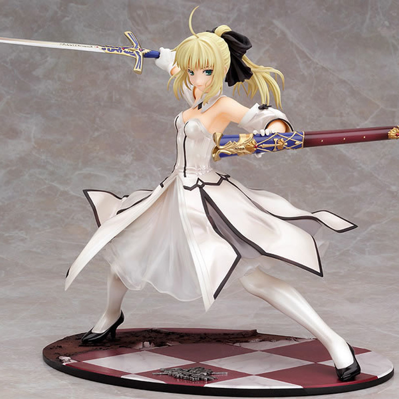 Japanese Anime Figures Fate stay night Saber Lily Doll the Sword of Victory Aciton Figure Model Toy 21cm PVC maxfactory figma 178 yasina hand sword domain of god yuki akihina model model of the japanese anime girl s gift