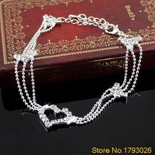 Charm Anklets Silver Plated Bead Anklets for Women Love Ankle Bracelet Chain Foot Jewelry  1OQ5 4U2P
