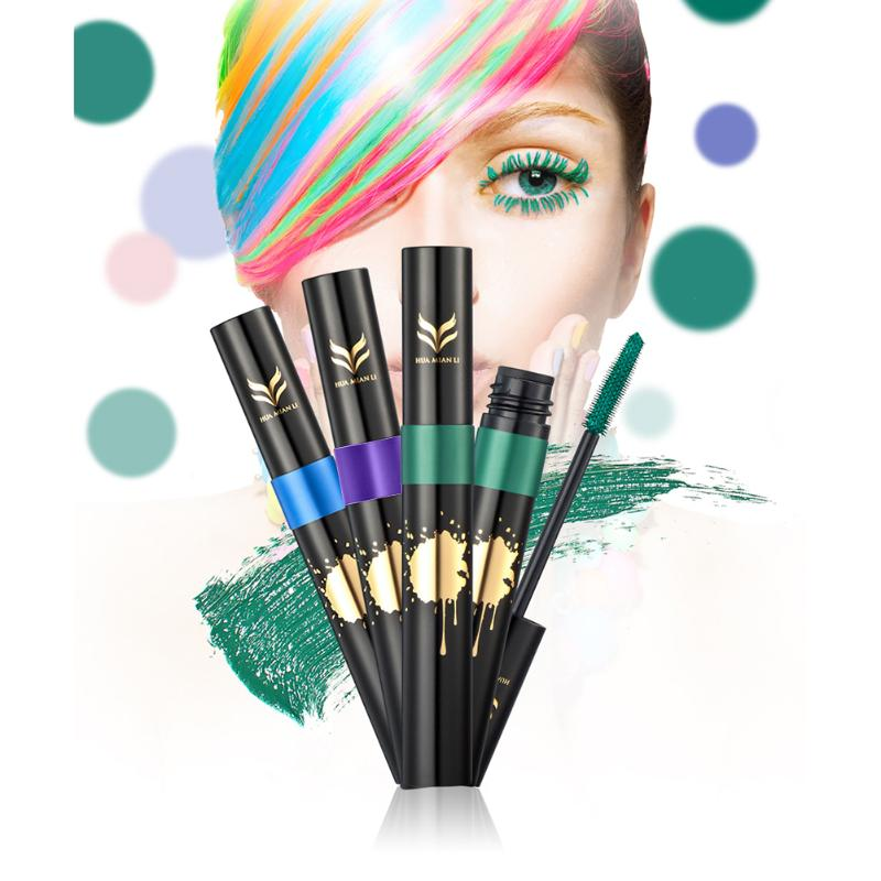 7 Colors Waterproof 3D Fiber Lashes Mascara Individual Curling And Thick Eyelash Extension Mascara Volume Express Eyes Beauty