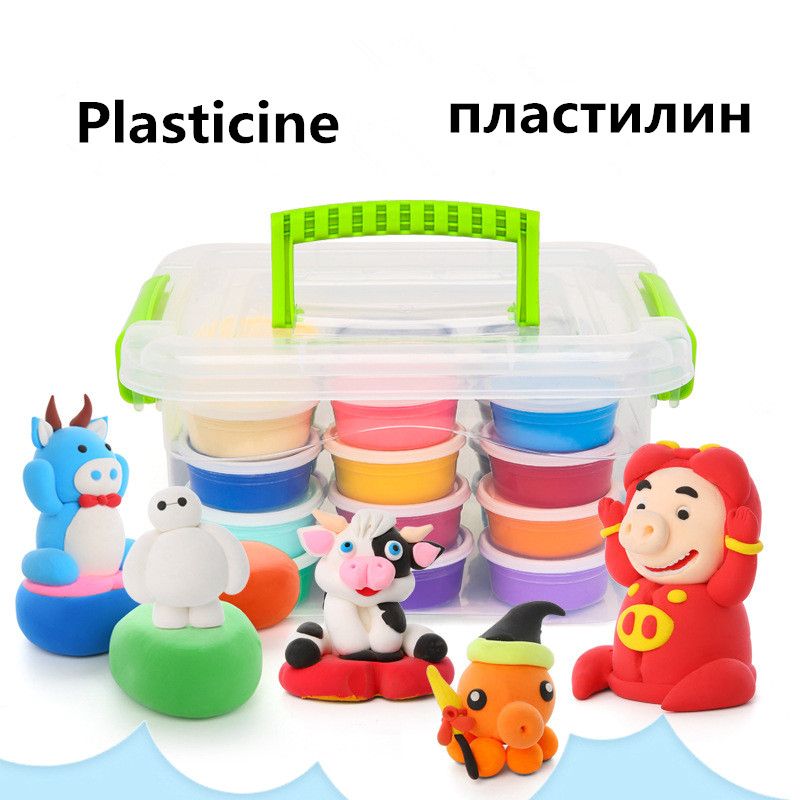 Storage Box Plasticine Air Dry Jumpimg Colored Clay Cold