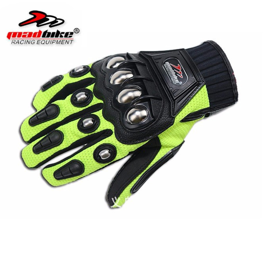 Alloy Steel Bicycle Motorcycle Motorbike Powersports Racing Gloves Black M L XL XXL Motorcycle gloves men gants moto racing