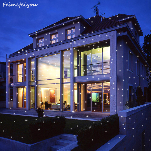 Feimefeiyou snowflower wireless lampada led laser projector stage feimefeiyou snowflower wireless lampada led laser projector stage light outdoor christmas lighting with remote control aloadofball Gallery
