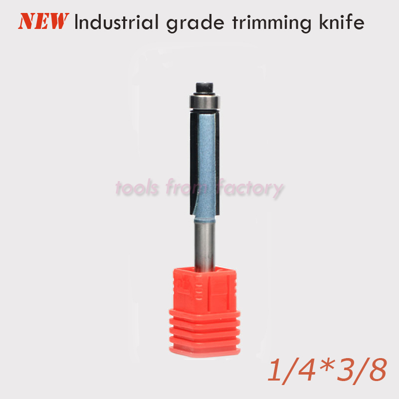 1pc 1/4*3/8 CNC Woodworking engraving machine bit Tungsten steel tools milling cutter wooden cutting trimming knife 1/4 Shank 1pc 1 2 7 8 woodworking cutter cnc engraving tools cutting the wood router bits 1 2 shk