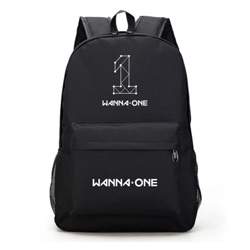 Wanna One Mens School Backpacks Got7 Fashion Bagpack Seventeen Back Bags For Girls Estojo Escolar Bts Mochila Escolar Femenina Bright And Translucent In Appearance Luggage & Bags
