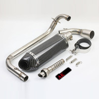 2012 1015 leovince MSX 125 Motorcycle Exhaust Muffler Akrapovic escape moto DB Killer Connect Pipe MSX125 125cc cbr carbon 51mm