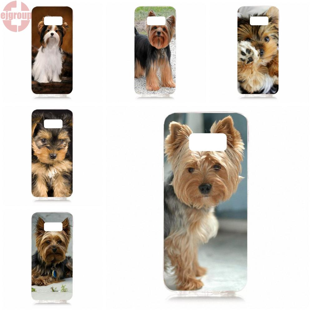 EJGROUP Yorkshire Terrier Yorkie Dog Soft TPU Silicon Cover Cases For Samsung Galaxy S8 5.8 inch G950 G950F SM-G9500 ...