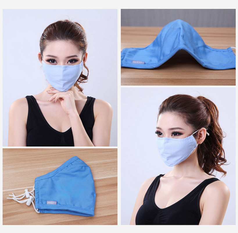 * Cotton PM2.5 Black mouth Mask anti dust mask Activated carbon filter Windproof Mouth-muffle bacteria proof Flu Face masks Care 83