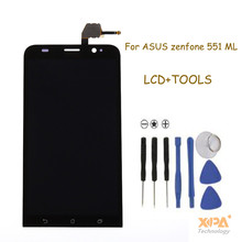 "Black 5.5"" LCD For Asus Zenfone 2 ZE551ML LCD Display + Touch Screen with Digitizer Assembly + Tools , Free shipping"