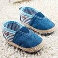 Новый Симпатичные Мягкие Хлопок Сплошной Синий и Красный Младенческой Anti-slip Новорожденного Обувь Мальчики первые Ходунки Повседневная для Ребенка Девушка обувь