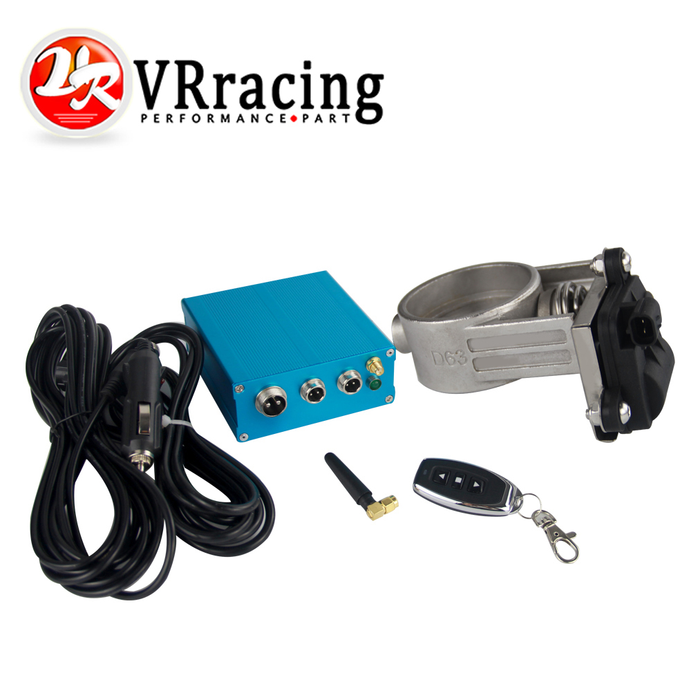 VR RACING 2 5 63mm Vacuum Exhaust Cutout Electric Control Valve Kit With Vacuum Pump VR