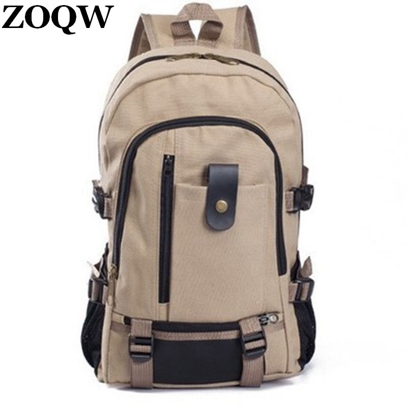 cd560f5c7028 2017 Hot Sale Teenage School Bag Useful Sack OL Laptop Women Backpack Men  New With Ears Cotton Canvas Black Travel Bag WUJ0095