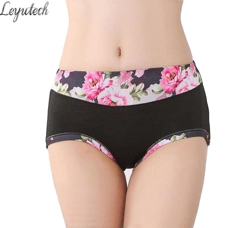 Buy New Underwear Women Floral Panties Print Women's Panties Shorts Breifs Sexy Lingeries Female Panties Cotton Underwear Women