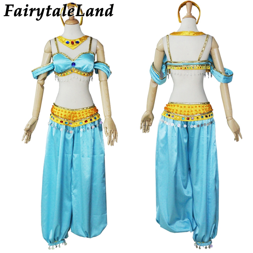 Halloween costume for adult women Aladdin and the Magic Lamp cosplay costume Princess Jasmine costume